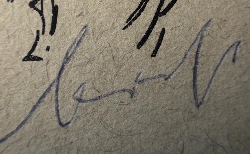 Brechts Wände, Peter Voigt- Brecht Unterschrift